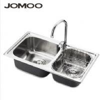 JOMOO九牧 厨房双槽 进口不锈钢 水槽套餐