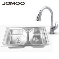 JOMOO 九牧 厨房不锈钢 双槽套装带下水管