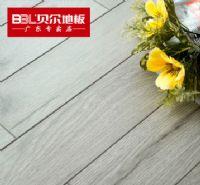 贝尔地板 木地板 强化复合地板12mm 防水耐磨 厂家直销 北美印橡