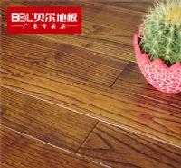 贝尔地板 木地板 实木地板 18mm 槐木地板 仿古拉丝 依云小镇