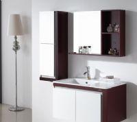 箭牌卫浴挂墙式实木浴室柜