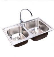 美标加厚不锈钢厨房水槽双盆套餐厨盆CF-X101双槽送高抛龙头