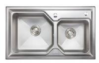 九牧 不锈钢810MM 厨房双槽
