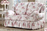 韩菲尔韩式田园客厅粉色双人沙发