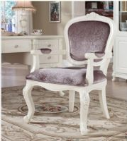 韩菲尔法式风格实木雕花扶手书椅实木书椅扶手书椅