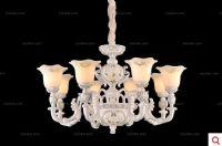 赛朵欧式田园 8头吊灯 树脂雕花 客厅卧室餐厅
