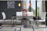 蒂美悦现代风格餐厅家具-钢化玻璃餐台