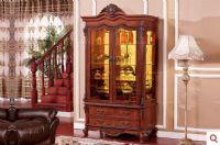 凯撒豪庭美式古典板木结合家具-两门酒柜