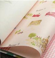 纺布 儿童房墙纸 卧室 卡通 法国埃菲尔铁塔 儿童壁纸