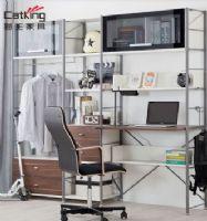 猫王家具钢木书房家具组合现代简约书柜书架组合柜MWA-ZH07