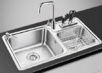 水槽 厨房洗菜盆304不锈钢水槽加厚双槽