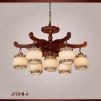 红木云石灯 红木灯饰灯具 刺猬紫檀红木吊灯